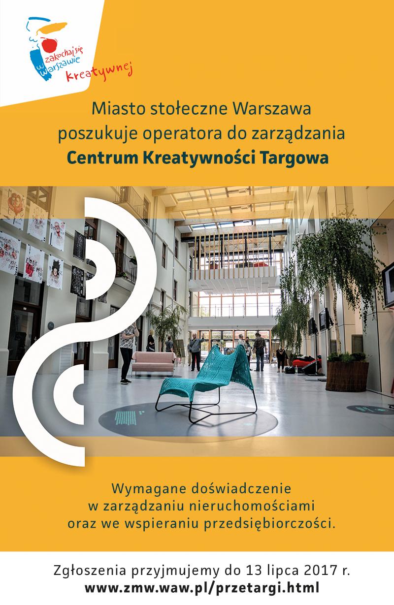 Ogłaszamy konkurs na udostępnienie powierzchni w Centrum Kreatywności Targowa!