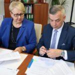 Uroczyste podpisanie umowy o dofinansowanie dla projektu edukacyjnego