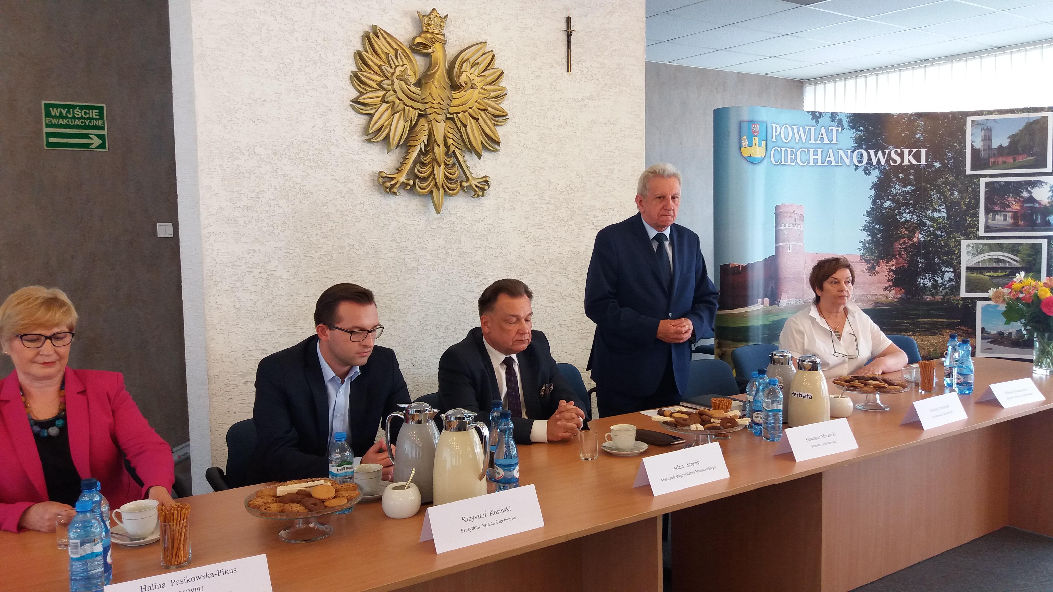 Uroczyste podpisanie dwóch umów o dofinansowanie projektów z dz. 7.1 Infrastruktura drogowa