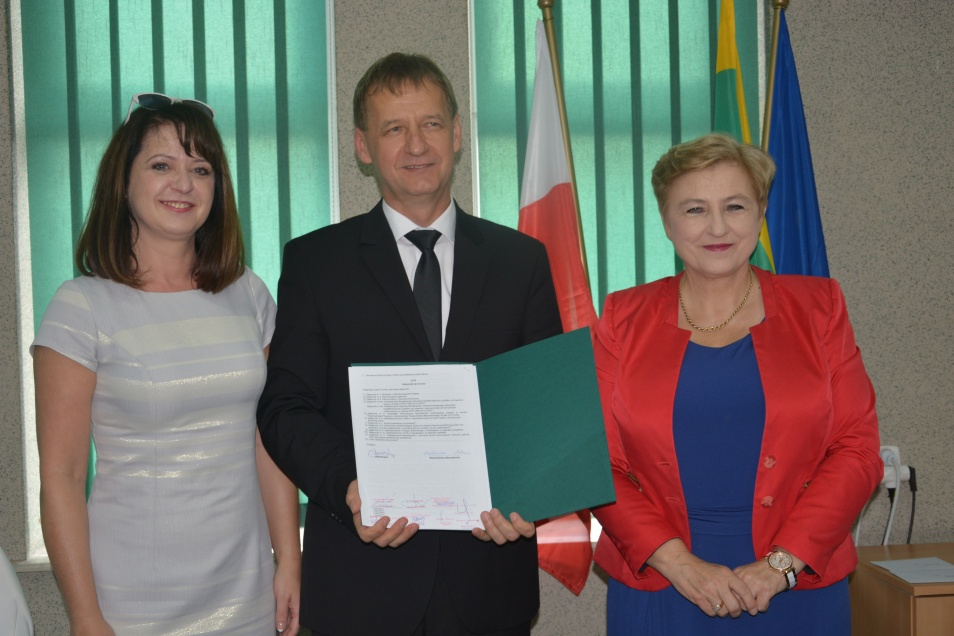 Podpisanie umowy z gminą Ostrów Mazowiecka