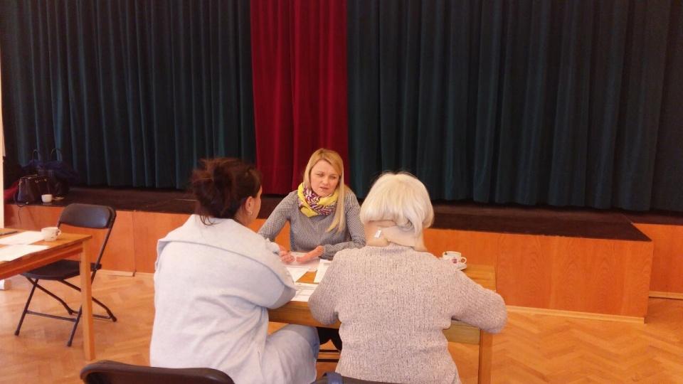 Pracownicy MJWPU na spotkaniu informacyjnym o funduszach europejskich w Łazach