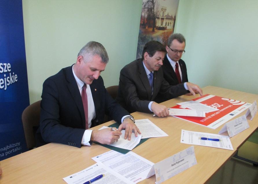 Uroczyste podpisanie umowy o dofinansowanie unijne projektu z dz. 5.1 Dostosowanie do zmian klimatu