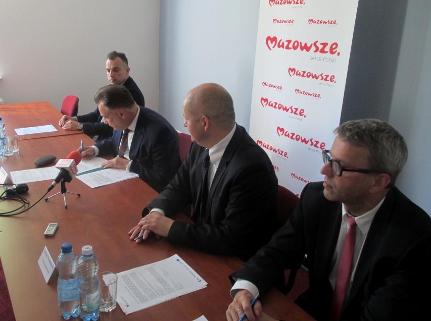 Uroczyste podpisanie umowy o dofinansowanie unijne z dz. 7.1 Infrastruktura drogowa