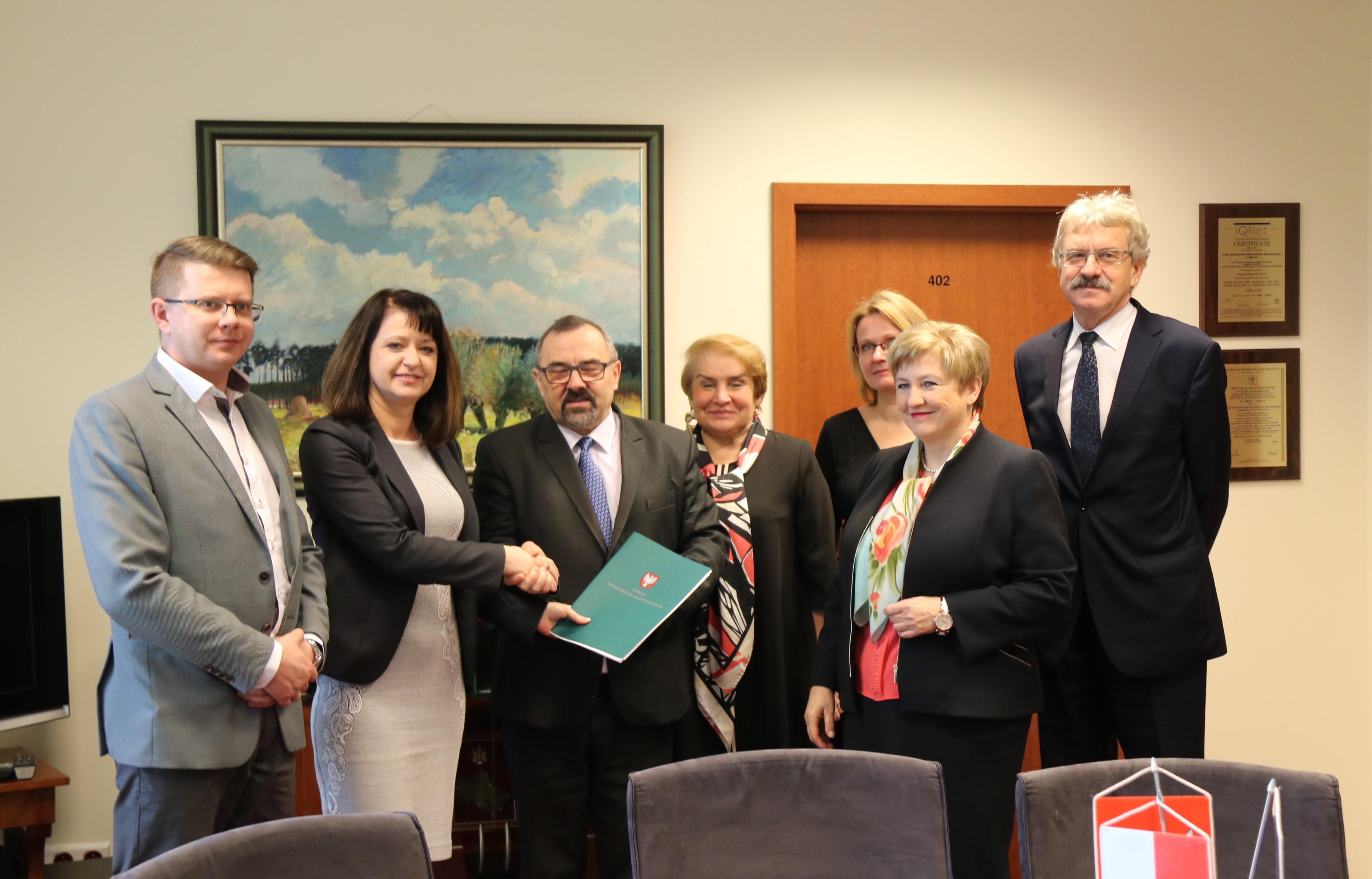 Uroczyste podpisanie umowy o dofinansowanie unijne projektu z dz. 1.1 Działalność badawczo-rozwojowa jednostek naukowych