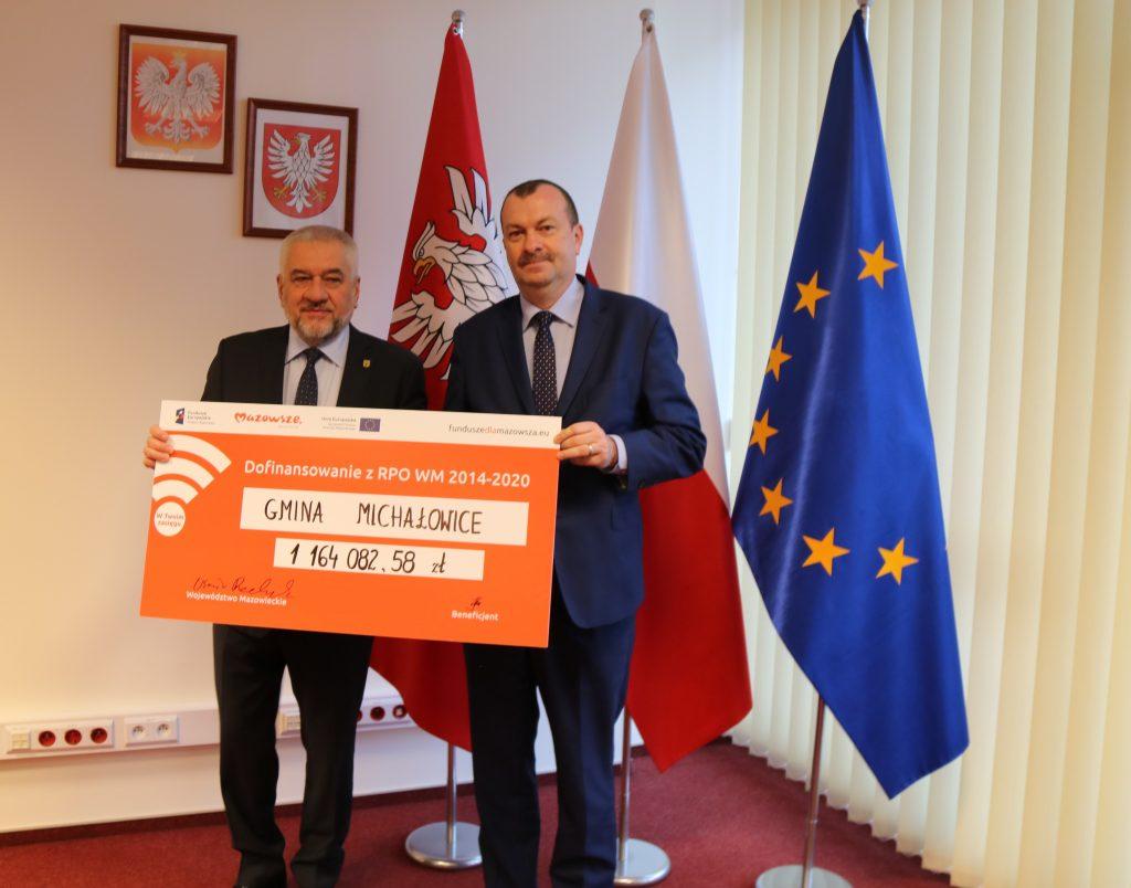 Uroczystość podpisania umowy o unijne dofinansowanie z Regionalnego Programu Operacyjnego Województwa Mazowieckiego 2014-2020
