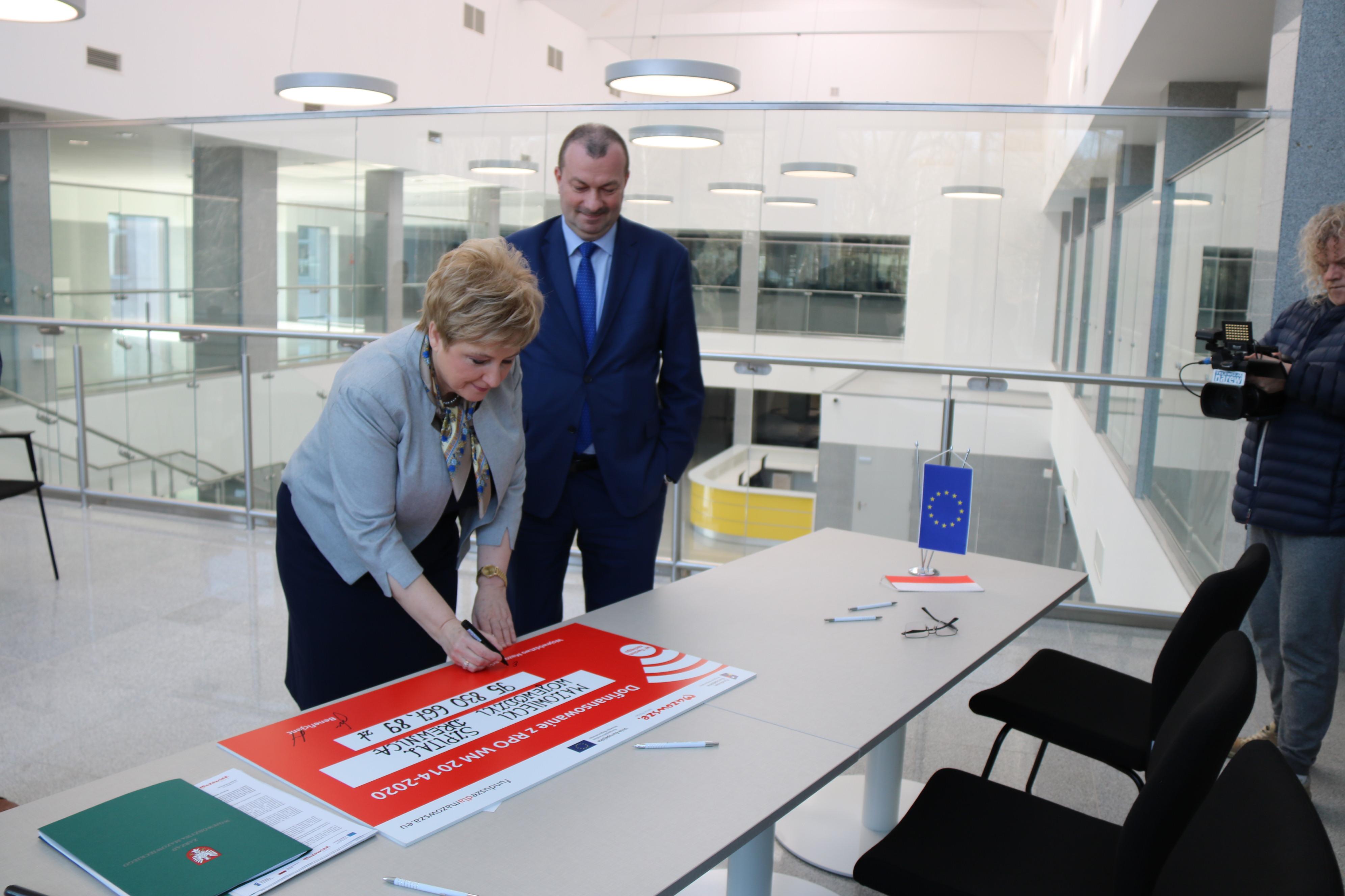 Uroczyste podpisanie umowy na dofinansowanie Mazowieckiego Szpitala Wojewódzkiego Drewnica