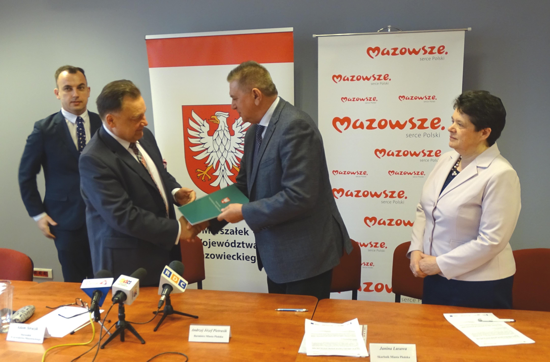 Uroczyste podpisanie umowy o dofinansowanie unijne projektu z dz. 4.2 Efektywność energetyczna