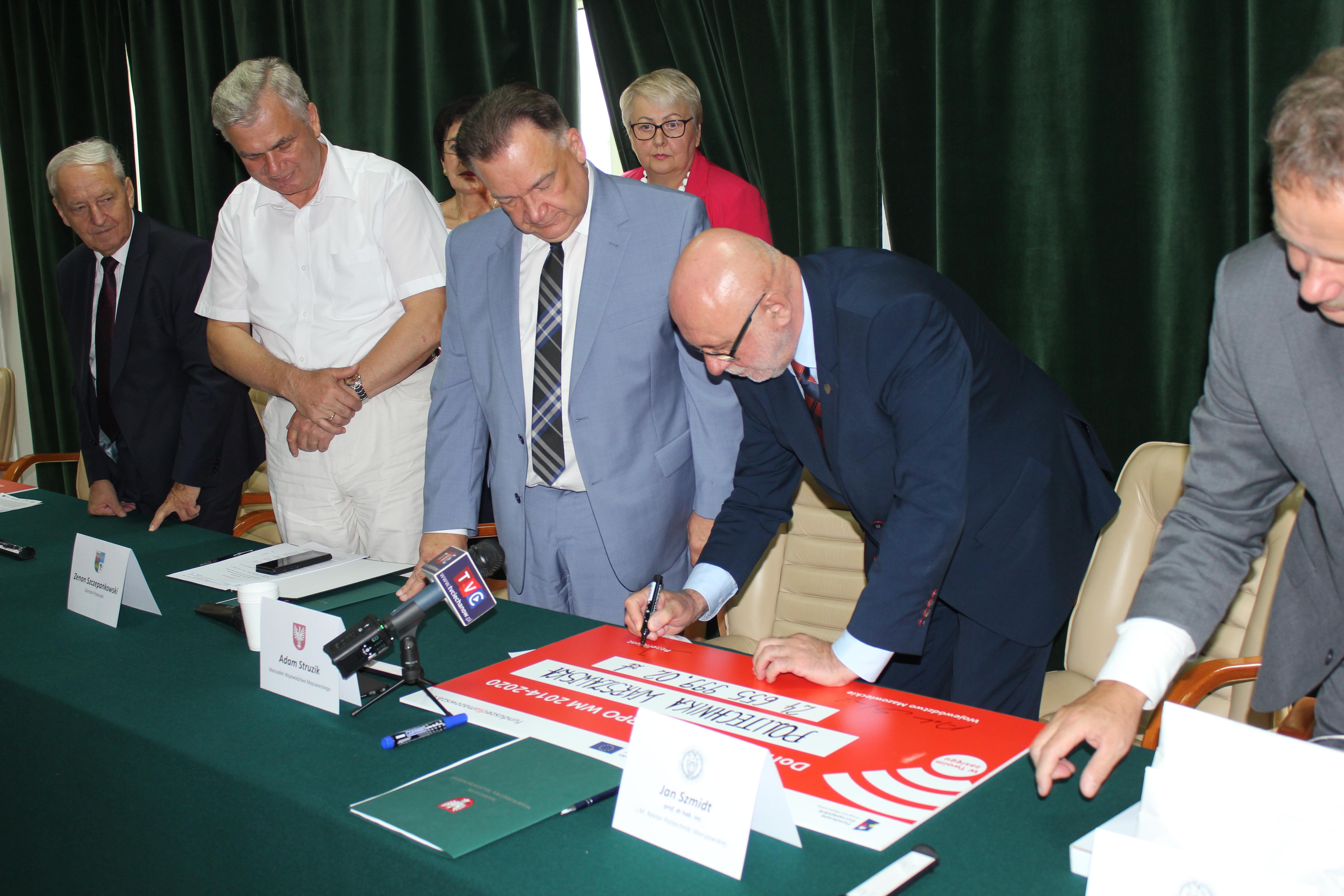 Uroczyste podpisanie umów o dofinansowanie unijne projektów z dz. 1.1 Działalność badawczo – rozwojowa jednostek naukowych i z dz. 6.1 Infrastruktura ochrony zdrowia