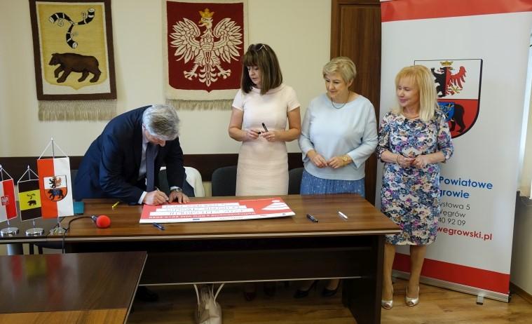 Uroczyste podpisanie umów o dofinansowanie unijne projektów z dz. 4.2 Efektywność energetyczna i dz. 6.1 Infrastruktura ochrony zdrowia