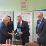Uroczyste podpisanie umów o dofinansowanie unijne projektów z dz. 4.1 Odnawialne źródła energii,  dz. 4.2 Efektywność energetyczna i dz. 6.1 Infrastruktura ochrony zdrowia