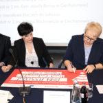 Uroczyste podpisanie umów o dofinansowanie unijne projektów z dz. 10.3.1 Doskonalenie zawodowe uczniów.