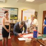 Uroczyste podpisanie umów z gminą Pokrzywnica i Baboszewo.