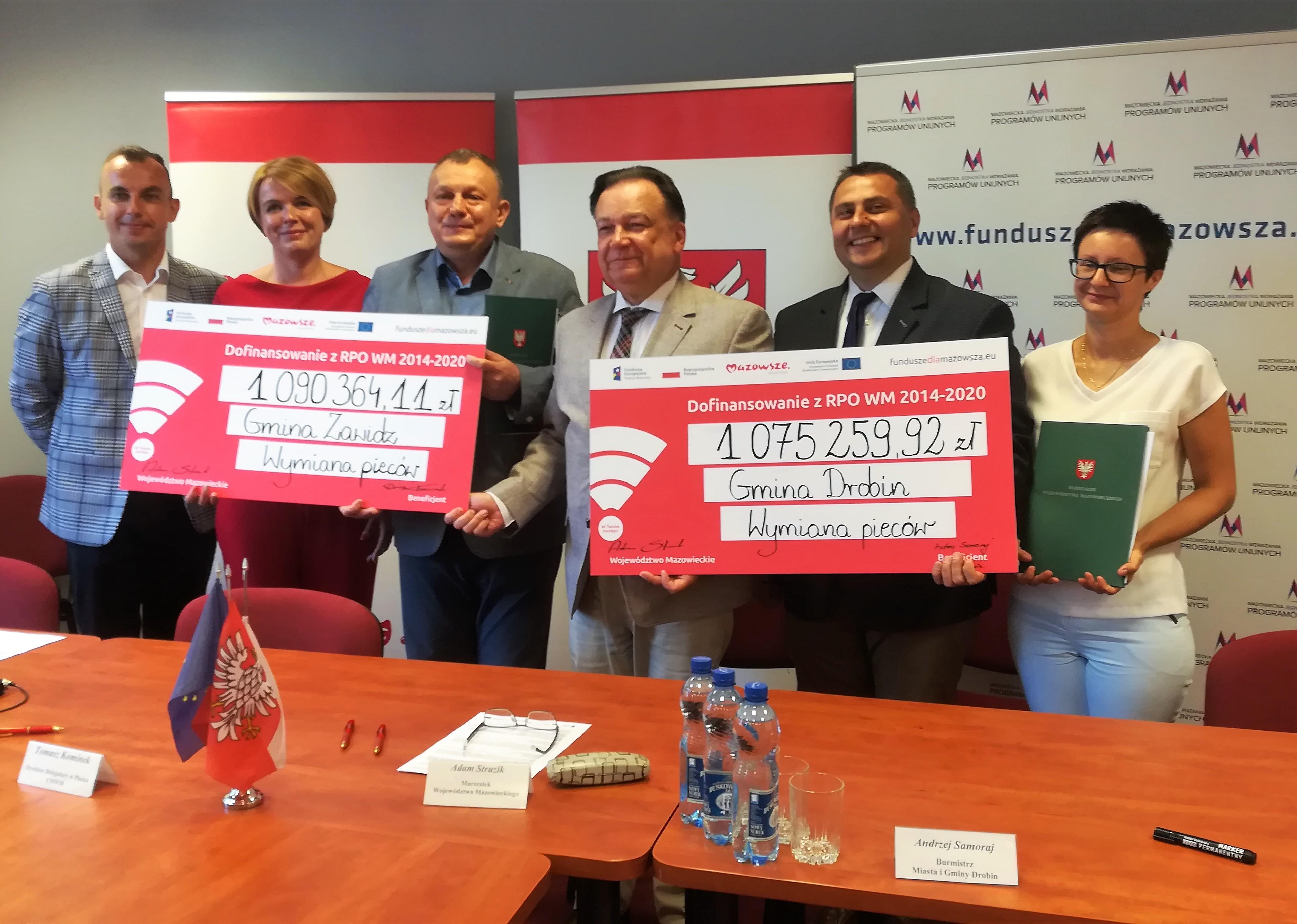 Uroczyste podpisanie umowy o dofinansowanie unijne projektów z dz. 4.3 Redukcja emisji zanieczyszczeń powietrza.