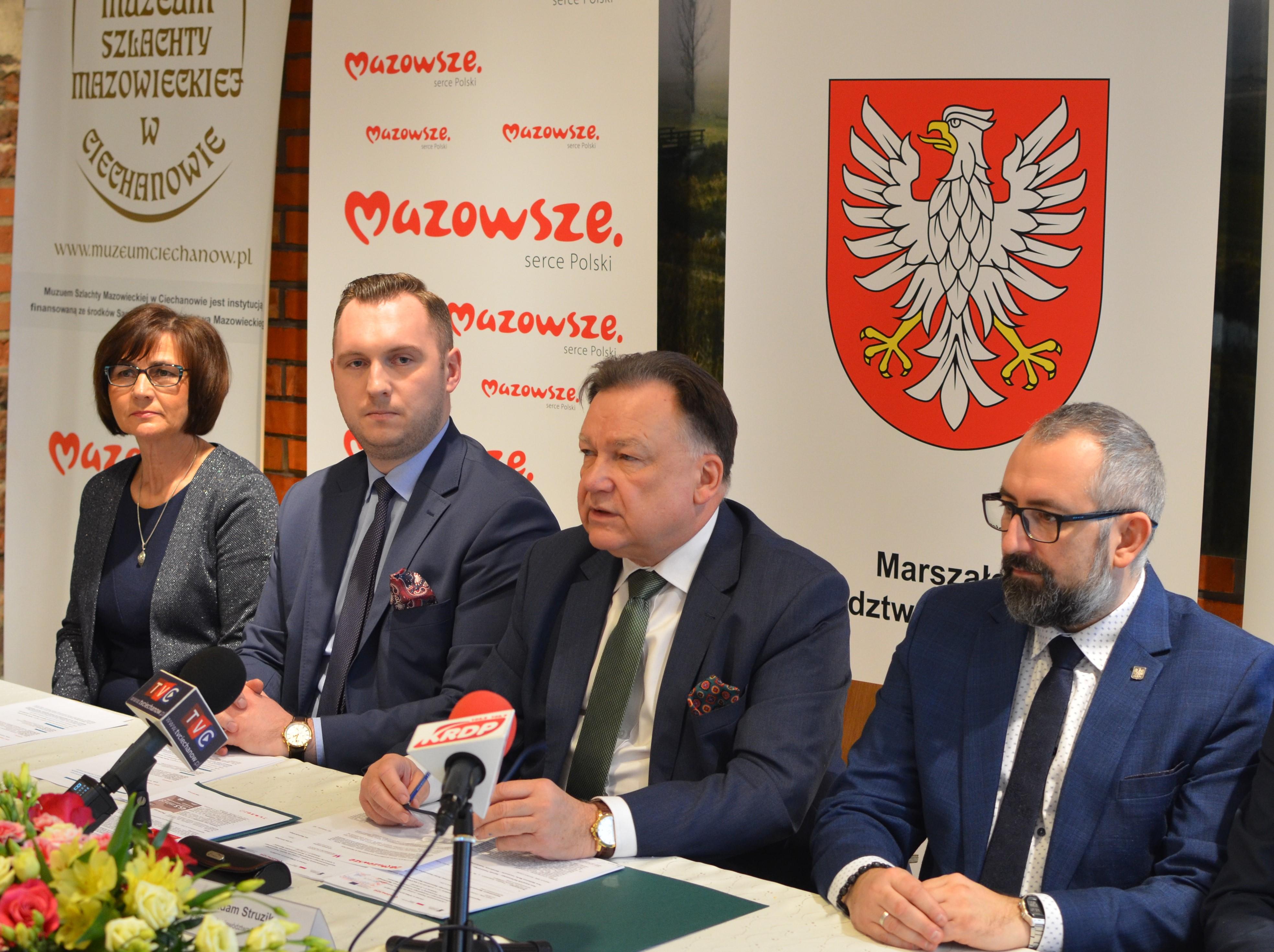 Uroczyste podpisanie umowy o dofinansowanie unijne projektu z Działania 2.1.1 E-usługi dla Mazowsza
