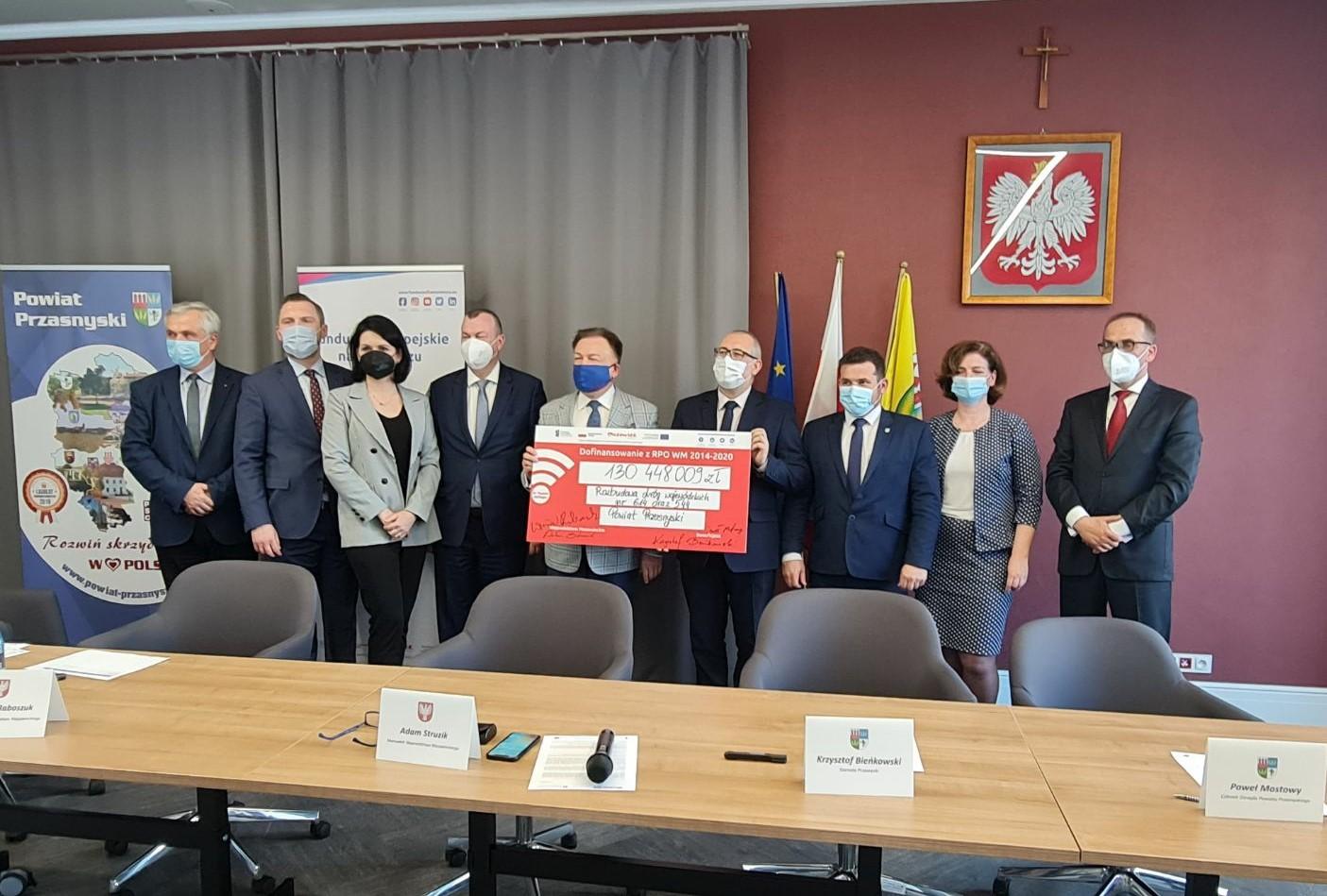 Ponad 130 mln zł dla powiatu przasnyskiego