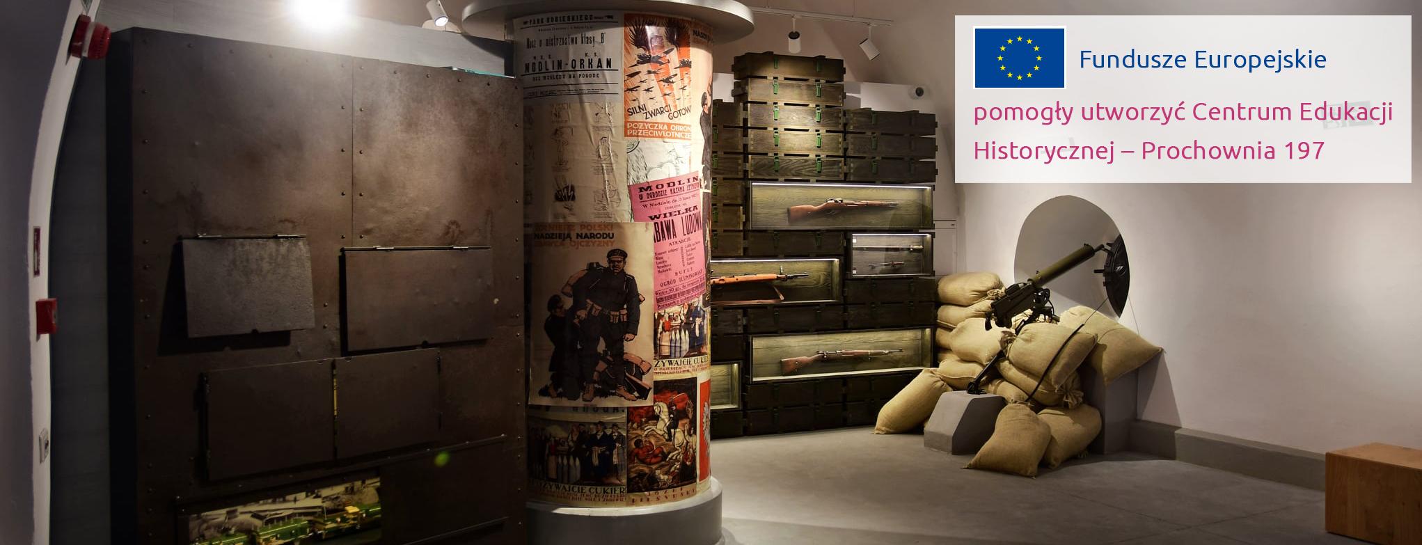 Kolekcja broni w Centrum Edukacji Historycznej Prochownia 197, autor zdjęcia: Piotr Zakrzewski
