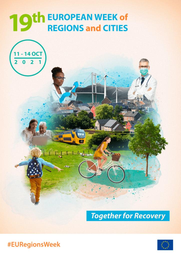 Grafika promująca Europejski Tydzień Miast i Regionów 2021